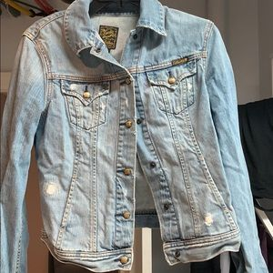 Lucky Brand Distressed Jean Jacket